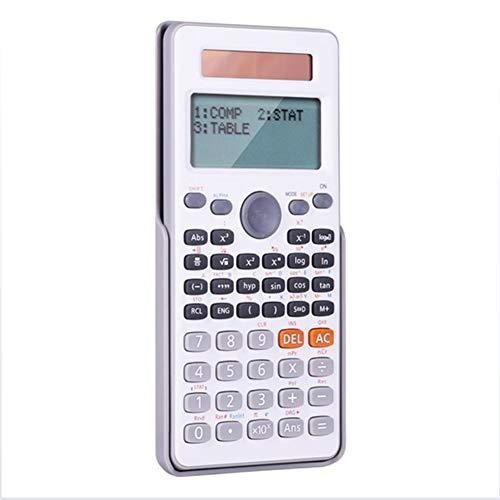 Ycljsq Studenten mit wissenschaftlichen Funktionen Berechnung Calculus Testlösung Gleichung Home Office-Multifunktions Scientific Calculator,Weiß