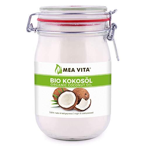 MeaVita Bio Kokosöl im Bügelglas, nativ, 1er Pack (1 x 1000 ml)