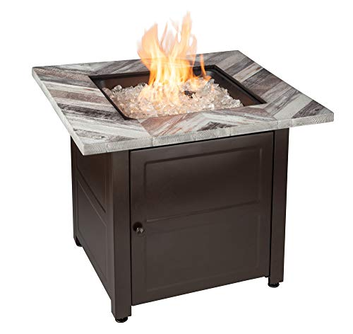 Uniflame Endless Summer GAD15287SP Duval - 30 Inch Fire Pit by Endless Summer, Printed Resin Mantel and Steel Base