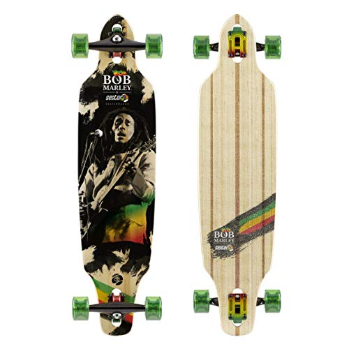 Sector 9 Surge Complete 38 Inch Maple Drop Through Longboard for Freeriding and Commuting