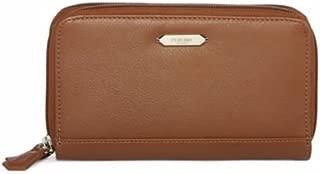 perlina nappa double zip wallet