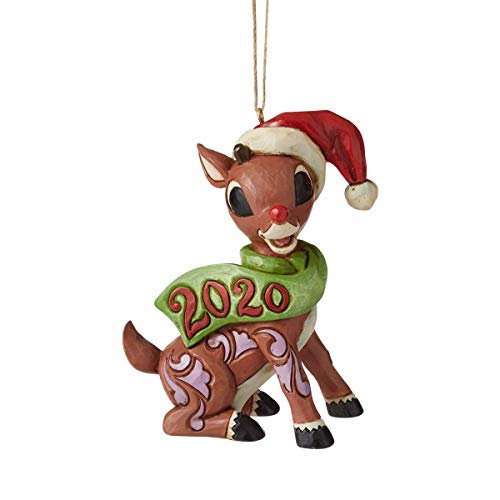 Enesco Rudolph Traditions by Jim Shore Rudolph with Candy Cane 2020 HO Figurine