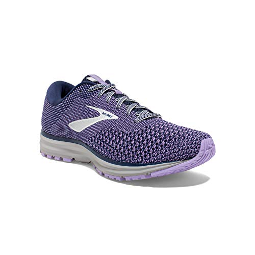 Brooks Womens Revel 2 Running Shoe - Blue/Purple Rose/Grey - B - 11.0