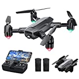 Dragon Touch Drone with Camera for Adults, 1080P HD Camera Foldable WiFi FPV Drone with 120°Wide-Angle RC Quadcopter with Gravity Sensor, Altitude Hold, Headless Mode, One Key Return-DF01