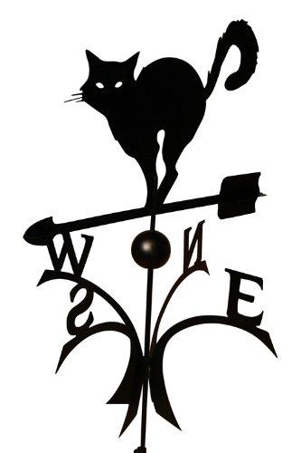 Svenska Wetter Fahne Windspiel Windfahne Metall Deko Wetterfahne Katze schwarz Kugellager hochwertig Gartendeko Garten Deko