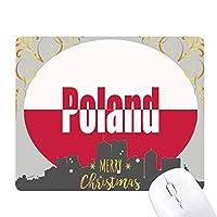 ポーランド国の旗の名 クリスマスイブのゴムマウスパッド