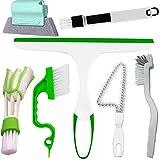 Best Glass Shower Door Cleaners - Window Groove Cleaning Brush Set - Hand-Held Door Review