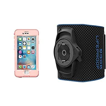 Lifeproof NÜÜD SERIES iPhone 6s Plus ONLY Waterproof Case  5.5  Version  - Retail Packaging - FIRST LIGHT  PINK JELLYFISH/CLEAR/SEASHELLS PINK  and Lifeproof LifeActiv Armband with QuickMount - Retail Packaging - Black Bundle