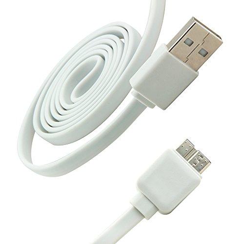 Dettagli di 1m Micro cavo piatto USB 3.0super speed cavo dati cavo di ricarica per Samsung Galaxy S5Note 3