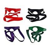 4PCS-Mixed Color Yi-Yi Party Time Hand Free Wine Glass Holder Necklace
