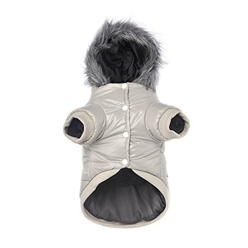 Lesypet - Abrigo de invierno con capucha para perro