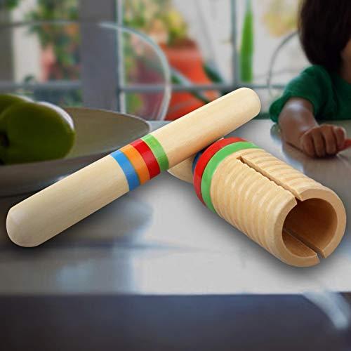 Guiro, brinquedo de madeira não fácil de danificar, brinquedo leve e fácil de transportar para crianças iniciantes.