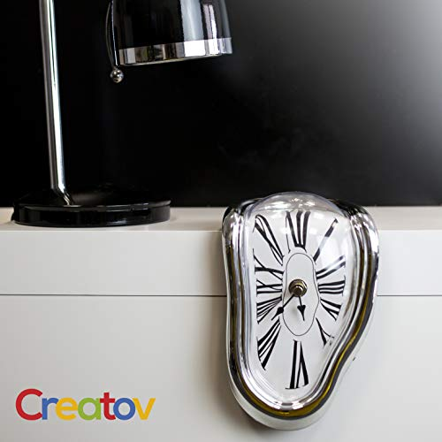 Creatov Decorative Dali Watch Melting Clock - Surrealistic Table Shelf Desk Fashion Clock Salvador Dali Inspired Funny Home Office Desks Watch Best Birthday Gift Idea for Men and Women