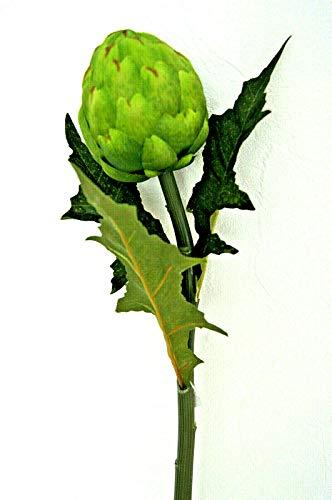 64 cm Ø 8 cm Künstliche Artischocke blütte Exotisch Deko Gemüse Grün Dekor K82 (K82 - B)