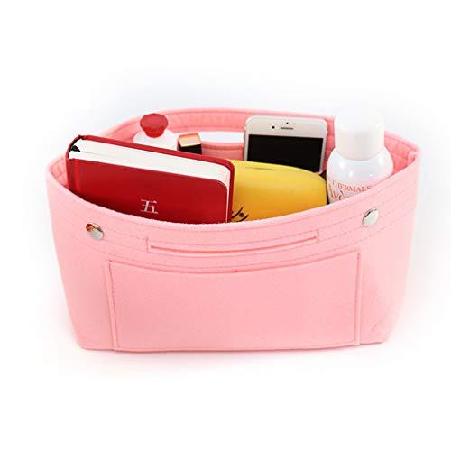 XIAN Handbag Organizer Bag Purse Insert Bag Felt Multi Pocket Liner Tote