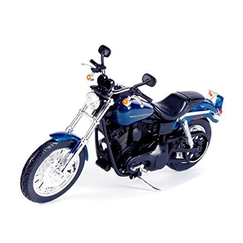 JIALI Automodell kompatibel mit Harley-Davidson Motorrad Modell Simulation 1:12 Druckguss Auto Modell Weihnachten...