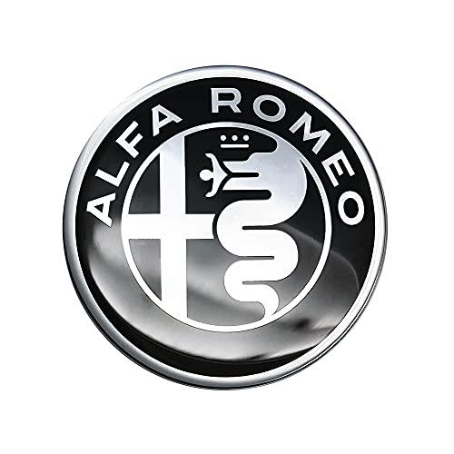 Alfa Romeo 21830 Adesivi 3D Ufficiali Logo, Diam. 40 mm, Black
