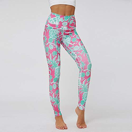 RRUI vrouwen sport panty Panty bedrukt Yoga Plant tellen broek hoge taille verhogen billen Stitching vrouwen foto kleur S