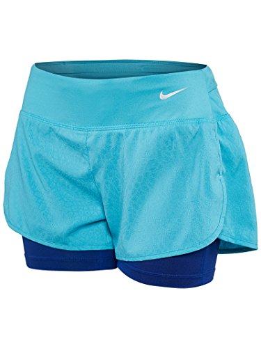 Nike Rival Jacquard 3-inch Women's Shorts (Small, Omega Blue)