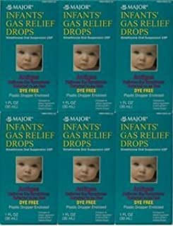 MAJOR INFANTS GAS RELIEF DROPS DYE-FREE SIMETHICONE ORAL SUSPENSION 30ML EACH (PACK OF 6)