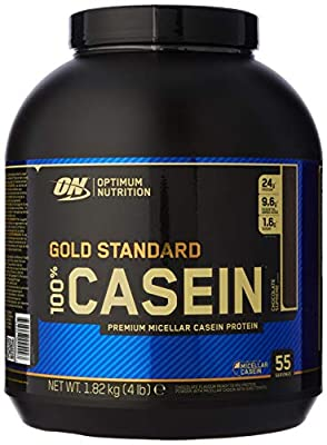 Optimum Nutrition Gold Standard Casein Slow Digesting Protein Powder Shake with Glutamine and Amino Acids, Chocolate Supreme, 55 Servings, 1.82 kg