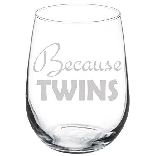 Because Twins Stemless Glass