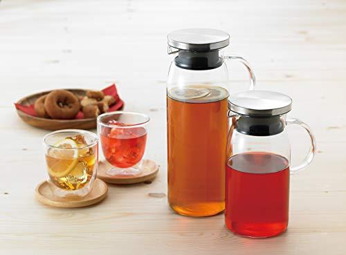 iwaki(イワキ)耐熱ガラスピッチャー冷水筒1Lジャグ・1000ステンレス蓋麦茶お茶ポットKT294-SV