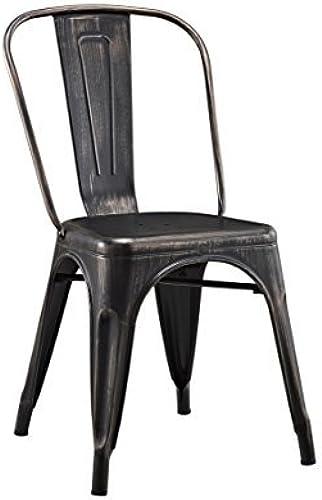 diseño simple y generoso Walker Edison Metal Cafe Chair in Antique negro by by by Walker Edison  precio razonable