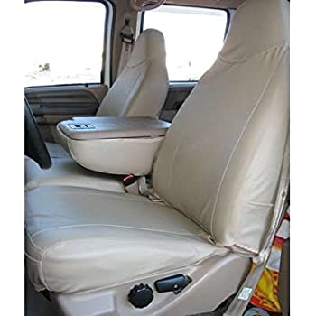 Amazon Com Durafit Seat Covers Made To Fit 1999 2007 Ford F250 F550 Front 40 20 40 Split Bench Seat Covers In Gray Endura Fabric With Pointed Molded Headrests And Opening Console Automotive