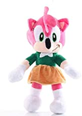 Lshuqing 11in Amy Rose Plush Figure Toys So The Hedgehog Anime Figures Soft Stuffed Doll 3+ Kids Birthday (Red)