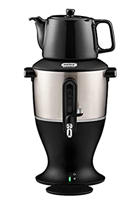 Electric Samovar With Ceramic Teapot or pot, Electric kettle Hot Tea Machine, Mulex Made In Germany (3 Liter, Black)