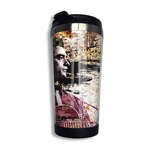 N/A NA Johnny Cash Isolierte Kaffeebecher Umweltfreundliche Wiederverwendbare Thermobecher Für Kaffee Tee Und Bier Isolierter Reisebecher