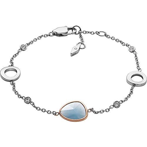 Fossil Damen-Kettenarmband Edelstahl Glas JF03075998