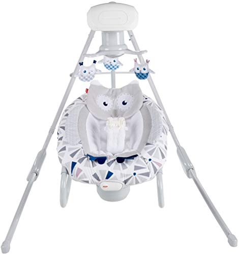 Amazing Deal Fisher-Price Owl Love You 2-in-1 Deluxe Cradle 'n Swing with Smart Connect