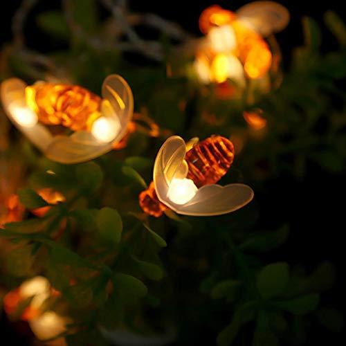 LED bij Solar tuinverlichting 8 modi lichtketting watertest buitenverlichting voor huis terras party kerstboom