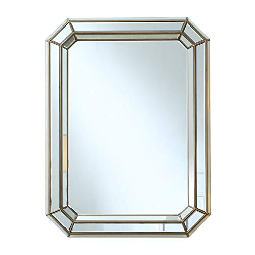 Miroirs Miroir Mural Grand Miroir Miroir Rectangulaire Miroir De Salle De Bain Miroir De Courtoisie Miroir Décoratif De Mur De Porche De Salon Miroir De Maquillage (Color : Silver, Size : 50 * 90cm)