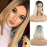 12'(30cm) Pelucas Mujer Pelo Natural BOB Lace Front Wig Huma