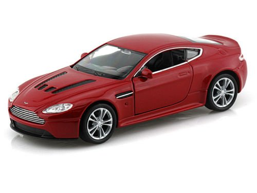 Welly New 1:32 Display Collection - RED Aston Martin V12 Vantage Diecast Model Car