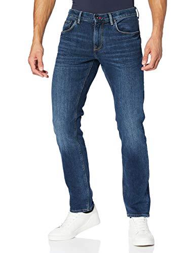 Tommy Hilfiger Herren CORE DENTON STRAIGHT JEAN Straight Jeans, Blau (New Dark Stone 919), W33/L32