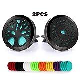 2 PCS Aromaterapia Difusor de Aceite Esencial Ambientador de Aire 30mm Clip...