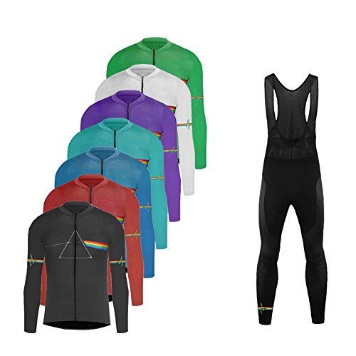 Uglyfrog Neue&Schlussverkauf Radsport Anzüge Winter Vlies Warm Herren Long Trikots with Lange Bib Hosen Gel Pad Winter Triathlon Clothes