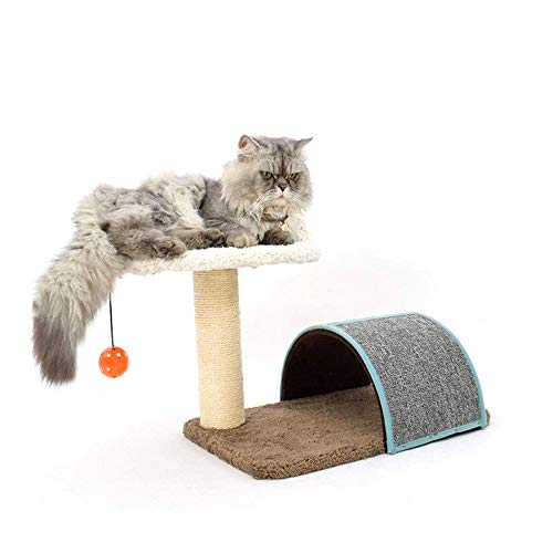OH Creative Cat Climbing Frame Small-Scale Cat Scratch Post Sisal Toy Pet Multifunction Cat Nest Claws Grinding Device 30.5X41X37.6 cm Cat Villa