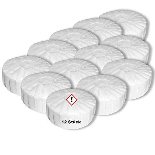 Luftentfeuchter Tabs Granulat im Vliesbeutel 12 x 450g Nachfüllpackung für Raumentfeuchter Tabletten in Premium Qualität Nachfülltabs neutral