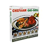 CHEFMAN Gas Grill Indoor Smokeless Barbeque Non-Stick Coating Grill :: Multi-functional 2 pcs grill converts your stove into an indoor smokeless grill Heavy-duty grill plate grills food golden brown with perfect even heat for low-fat, Easy way to mak...