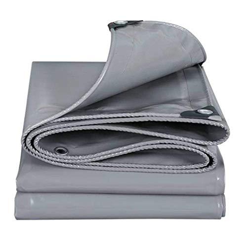 Gxmyb grijs regendicht dekzeil met ogen zonnebrandcrème waterdichte schuur doek luifel schaduw, 500g/m2
