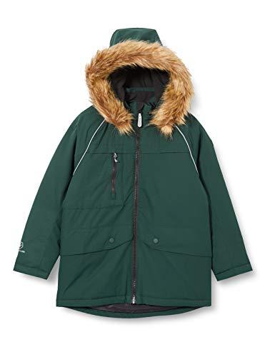 Color Kids Jungen Parka with Fake fur Steppjacke, Green Gables, 140