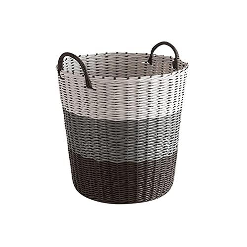 Cestas de lavado Cestas de algodón tejidas Cestas de Cuerda de Cuerda de baño Decorativo con manijas Decoración para el hogar para niños Baño Niños Bebé Bebé Dormitorio Niñas Escaleras Boy Boys