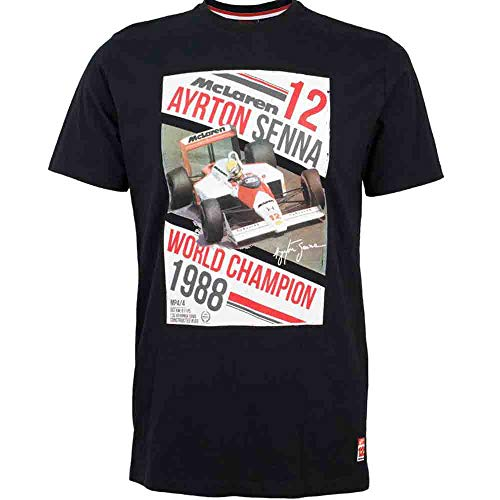 MBA-SPORT Ayrton Senna McLaren T-shirt World Champion 1988 Noir (XL)