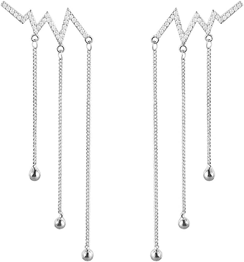 SLUYNZ Outlet sale feature Max 57% OFF 925 Sterling Silver lightning Crawler Dangle Cha Earrings