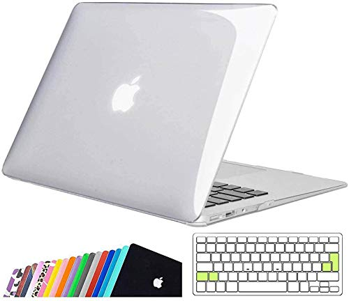 iNeseon MacBook Air 13-inch Case Cover,Ultra Slim Hard Shell Protective Case with Keyboard Cover for 2010-2017 MacBook Air 13 (Model A1466 A1369, Size 32.5 x 22.7cm), Crystal Clear